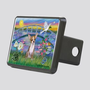 Lilies/Chihuahua Rectangular Hitch Cover