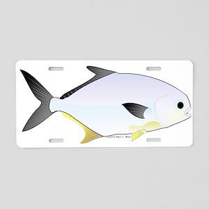 Pompano fish Aluminum License Plate