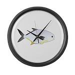 Pompano fish Large Wall Clock