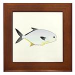 Pompano fish Framed Tile