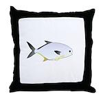 Pompano fish Throw Pillow