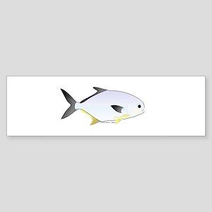 Pompano fish Sticker (Bumper)