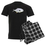Pompano fish Men's Dark Pajamas
