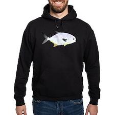 Pompano fish Hoodie (dark)