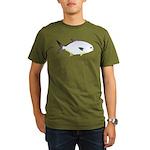 Pompano fish Organic Men's T-Shirt (dark)