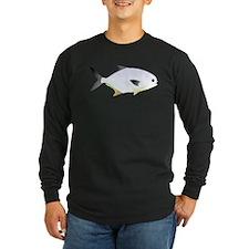 Pompano fish Long Sleeve Dark T-Shirt