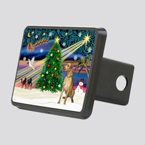 Xmas Magic & Gr Dane Rectangular Hitch Cover
