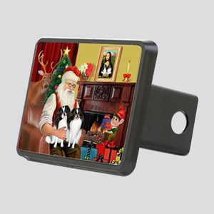 Santa's 2 Japanese Chins Rectangular Hitch Cover