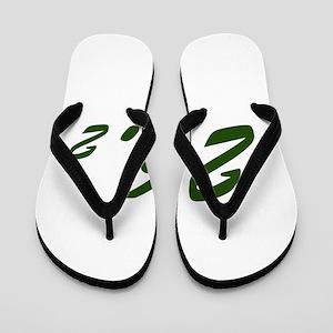 Green 26.2 Flip Flops
