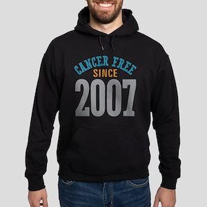 Cancer Free Since 2007 Hoodie (dark)