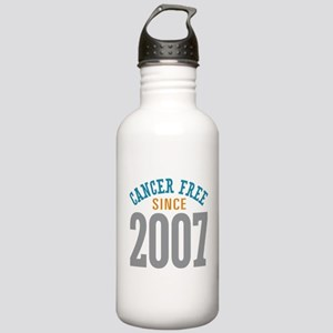 Cancer Free Since 2007 Stainless Water Bottle 1.0L