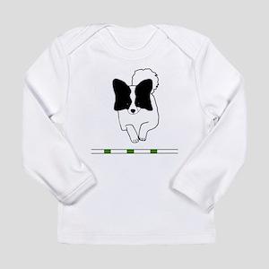Black Papillon Long Sleeve Infant T-Shirt