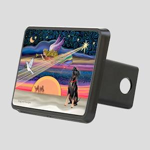 Xmas Star & Min Pin Rectangular Hitch Cover