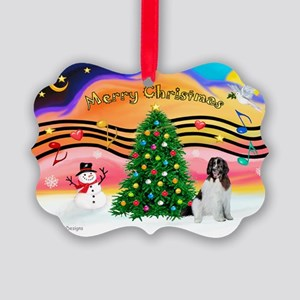 XmasMusic 2MC/Newfie Picture Ornament