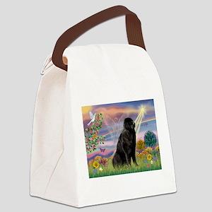 card-CldStar-Newfie1 Canvas Lunch Bag