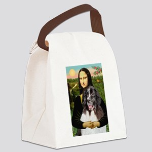 Mona Lisa's Landseer Canvas Lunch Bag