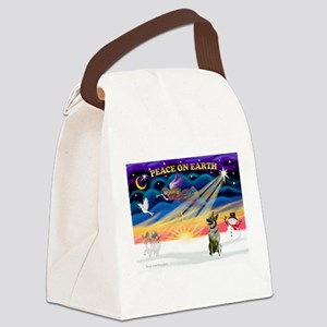 XmasSunrise/Norweg Elkhnd Canvas Lunch Bag
