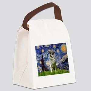 5.5x7.5-Starry-NorwElk Canvas Lunch Bag
