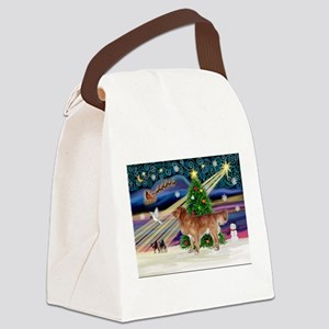 XmasMagic/Nova Scotia dog Canvas Lunch Bag