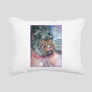 Gorilla! Wildlife art! Rectangular Canvas Pillow