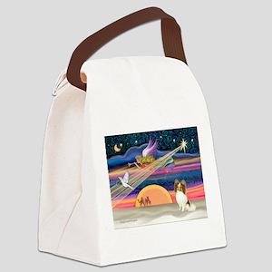 Xmas Star/Papillon Canvas Lunch Bag
