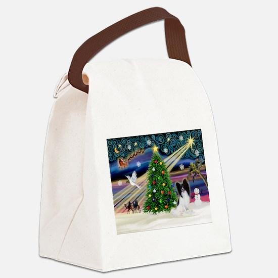 Xmas Magic/Papillon Canvas Lunch Bag