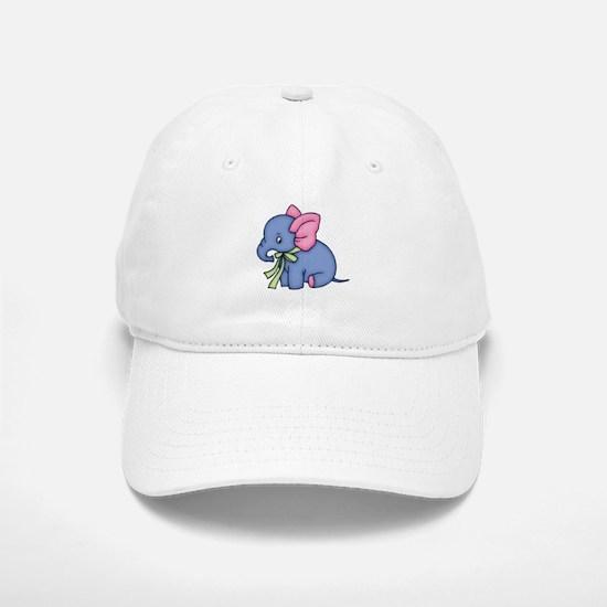 Cute Blue Elephant Baseball Baseball Cap