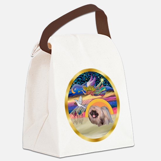 XmasStar/Pekingese #10 Canvas Lunch Bag