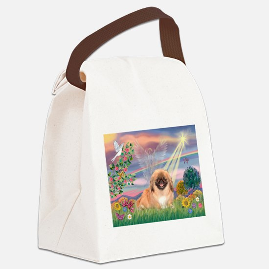 Cloud Angel Pekingese (#1) Canvas Lunch Bag