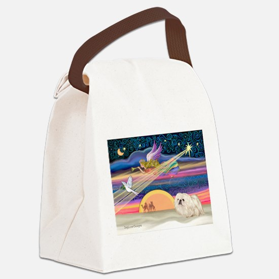 XmasStar/Pekingese (4W) Canvas Lunch Bag