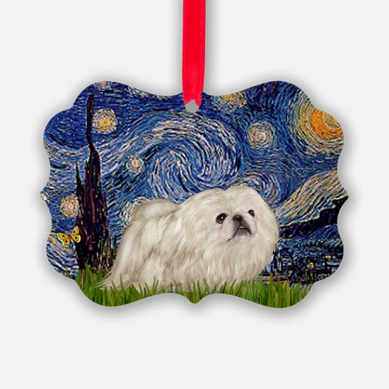 TILE-Starry-Peke-WHite4.PNG Ornament