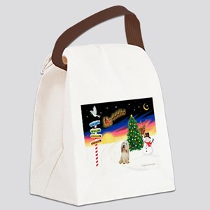 XmasSigns/PBGV #2 Canvas Lunch Bag
