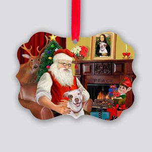 Santa's Pit Bull Picture Ornament
