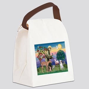 St Francis / Pitbull Canvas Lunch Bag