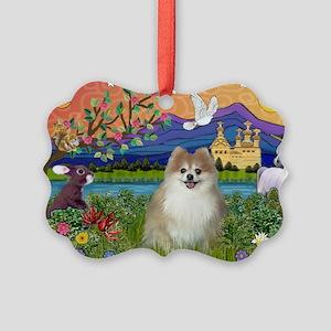 Pom Fantasy (#1) Picture Ornament