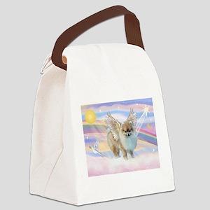 Pomeranian Angel (#9) Canvas Lunch Bag