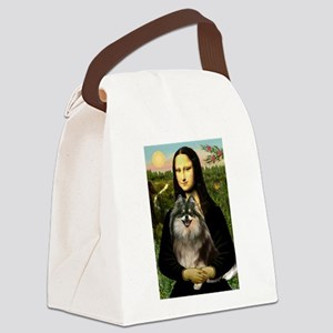 Mona and her Parti Pom Canvas Lunch Bag
