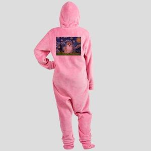 Starry/Pomeranian (#1) Footed Pajamas