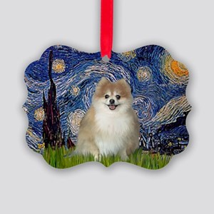 Starry/Pomeranian (#1) Picture Ornament