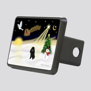 Night Flight/Poodle (Min) Rectangular Hitch Cover