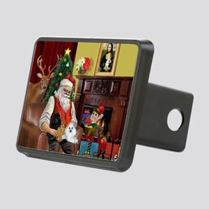 Santa's Poodle Trio Rectangular Hitch Cover