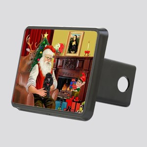 Santa Min Poodle (b) Rectangular Hitch Cover