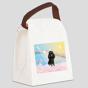 Angel /Poodle (blk Toy/Min) Canvas Lunch Bag