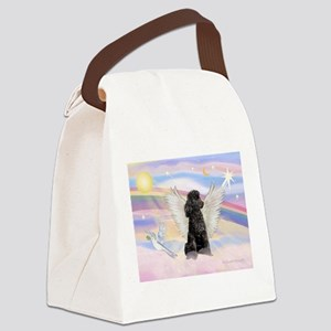 Angel/Poodle(blk Toy/Min) Canvas Lunch Bag
