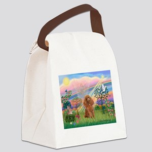 Cloud Angel/ Poodle (Apricot) Canvas Lunch Bag