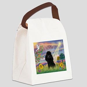 MP-CldStar-Poodle-BLK2 Canvas Lunch Bag