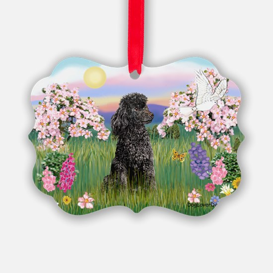 Blossoms/Poodle (miniature #2 Ornament