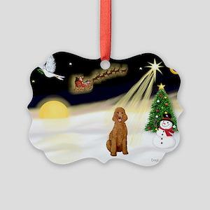 Night Flight/Poodle Std Picture Ornament
