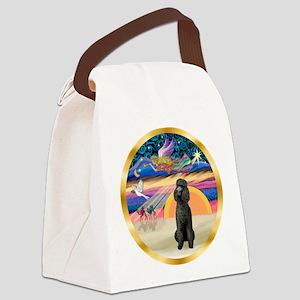 XmasStar/Poodle Std Canvas Lunch Bag