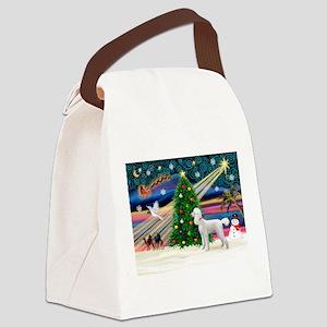 Xmas Magic & Poodle Canvas Lunch Bag
